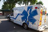 Ambulance, rural volunteer fire department, equipment - Stock Image - EXHMC9