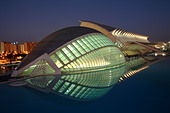 The Hemisferic, City of Arts and Sciences, Valencia, Spain - Stock Image - AK1NMM