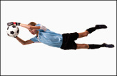 Soccer player - Stock Image - BMJ0WX