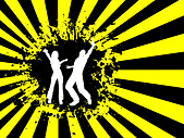 Grunge dancingabstract background - Stock Image - B563TP