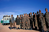Afghanistan, On the bus from Herat to Mazar i sharif - Stock Image - A98BB6