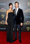 Hollywood, USA. 20th Oct, 2016. Benedict Cumberbatch and Sophie Hunter at the World premiere of 'Doctor Strange' held at the El Capitan Theatre in Hollywood, USA on October 20, 2016. © Hyperstar/Alamy Live News - Stock Image - H5FAE3