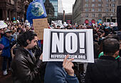 "Boston, Massachusetts, USA. 19th February, 2017.  More than 1,000 scientists and science advocates gathered in Copley Square in central Boston during the ""Stand up for Science"" rally.Credit: Chuck Nacke/Alamy Live News - Stock Image - HP8T99"