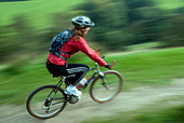 Mountain biking Hayfield Peak District National Park Derbyshire England UK GB - Stock Image - B4FGCC