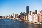 Skyscrapers and buildings along Hudson River in New York City, USA - Stock Image - D9DKYA