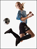 Soccer player - Stock Image - BMJ0WH