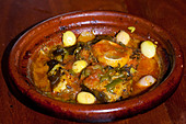 Fish Tagine in Rabat Morocco - Stock Image - BBWYPD
