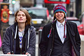 London, United Kingdom. 29 November 2017. Lauri Love and partner Sylvia Mann arrive at the Royal Courts of Justice in central London for the start of an appeal hearing against his extradition to the US where he faces hackng charges. Credit: Peter Manning/Alamy Live News - Stock Image - KJPR2K