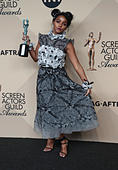 Los Angeles CA - JANUARY 29 Janelle Monae, At 23rd Annual Screen Actors Guild Awards - Press Room, At Shrine Auditorium In California on January 29, 2017. Credit: Faye Sadou/MediaPunch - Stock Image - HM1EG7