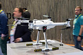 Las Vegas, US. 06th Jan, 2017. A remote-controlled drone from the Chinese manufacturer Ehang can be seen at the CES technology trade fair in Las Vegas, US, 06 January 2017. Photo: Friso Gentsch/dpa/Alamy Live News - Stock Image - HGE61F