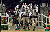 London, UK. 17th Dec, 2016. Olympia The London International Horse Show at Grand Hall Olympia London UK. The FEI World Driving leg Josef Dobrovitz HUN Credit: Leo Mason sports photos/Alamy Live News - Stock Image - HE614R
