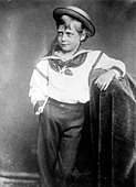 King George as young boy, 1870 - Stock Image - C4FGW7