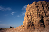 May 10, 2006 - Big and Little Kiz Kale at ancient Merv in Turkmenistan - Stock Image - A9J79M