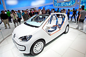 Volkswagen, VW up, convertible, 64th International Motor Show, IAA, 2011, Frankfurt am Main, Hesse, Germany, Europe - Stock Image - CREA05
