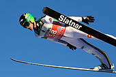 Ski Jumping - 65th four hills tournament trial round - Oberstdorf, Germany - 29/12/2016 - Slovenia's Peter Prevc soars through the air. REUTERS/Michael Dalder - Stock Image - HFB0WE