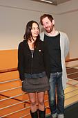 Michael Grubbs and Tanya Buziak of Wakey!Wakey! during a promotional visit to radio station Radio Hamburg. Hamburg, Germany - - Stock Image - D5BGGR