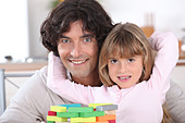 portrait of father and daughter - Stock Image - CB9DN7