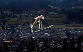 Ski Jumping - 65th four hills ski jumping tournament trial round - Oberstdorf, Germany - 29/12/2016 - Poland's Kamil Stoch soars through the air. REUTERS/Michael Dalder - Stock Image - HFB0MH