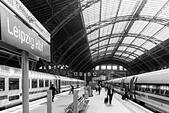 Leipzig Central Station - Stock Image - HBBX3W
