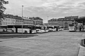 Bus station in Cheb (Czech Republic) - Stock Image - HBDEXM