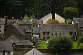 Welsh heritage and history: The Canolfan Owain Glyndwr Centre, Machynlleth, Powys, Wales UK - Stock Image - HDGXMR