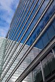 Windows of office building - Stock Image - BK7EM1