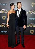 Hollywood, USA. 20th Oct, 2016. Benedict Cumberbatch and Sophie Hunter at the World premiere of 'Doctor Strange' held at the El Capitan Theatre in Hollywood, USA on October 20, 2016. © Hyperstar/Alamy Live News - Stock Image - H5FC2J