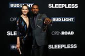 Cast members Jamie Foxx and Michelle Monaghan pose at the premiere of the movie 'Sleepless' in Los Angeles, California U.S., January 5, 2017.   REUTERS/Mario Anzuoni - Stock Image - HG8N49