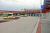 Bus station in Cheb (Czech Republic) - Stock Image - HBDEXW