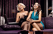 Two pretty girl having fun together - Stock Image - C690BH