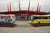 Bus station in Cheb (Czech Republic) - Stock Image - HBDEXX