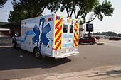 Ambulance, rural volunteer fire department, equipment - Stock Image - EXHJ3Y