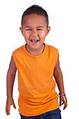 Portrait of a Smiling Toddler - Stock Image - D04CYB