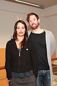 Michael Grubbs and Tanya Buziak of Wakey!Wakey! during a promotional visit to radio station Radio Hamburg. Hamburg Germany - Stock Image - D5BGGW