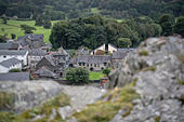 Welsh heritage and history: The Canolfan Owain Glyndwr Centre, Machynlleth, Powys, Wales UK - Stock Image - HDGXMB