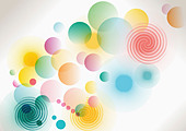 colorful circled pattern - Stock Image - BW29D6