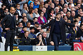 Britain Soccer Football - Tottenham Hotspur v Manchester City - Premier League - White Hart Lane - 2/10/16 Tottenham manager Mauricio Pochettino and Manchester City manager Pep Guardiola  Reuters / Eddie Keogh Livepic EDITORIAL USE ONLY. - Stock Image - H9W7NR