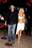 K32610AR.AFTER PARTY FOR .''ONCE UPON A TIME IN MEXICO''..GAUSTIVINO'S, NEW YORK New York..     /    2003.ENRIQUE IGLESIAS AND ANNA KOURNIKOVA(Credit Image: © Andrea Renault/Globe Photos/ZUMAPRESS.com) - Stock Image - CDC49D