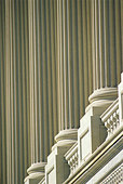 White Marble Columns Washington DC Government Buildings Near the Capitol Building United States of America - Stock Image - AJ1RF7