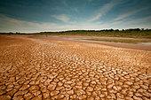 Desert landscape at Sarigua national park, Herrera province, Republic of Panama. - Stock Image - CB57BB