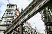 Sicilian Avenue is a beautiful pedestrian shopping street in the  Holborn district of central London, UK - Stock Image - GGWT70