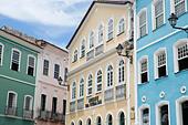 colonial architecture in the Old Town, Salvador da Bahia, Brazil - Stock Image - F347CG