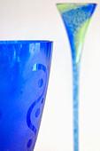 Sweden, Goteborg, Glass goblets, Helena Gibson Studio - Stock Image - AE0P26