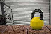 Composite image of kettlebell - Stock Image - H8PWG4