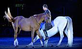 London, UK. 15th Dec, 2016. Olympia The London International Horse Show at Grand Hall Olympia London, UK. 14th Dec, 2016. The Santi Serra Performance © Leo Mason sports photos/Alamy Live News - Stock Image - HE025D