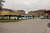 Bus station in Cheb (Czech Republic) - Stock Image - HBDEX7