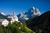 Italy Alps Veneto Dolomites Cadore hill wood forest meadows Pelmo holidays travel, - Stock Image - BNM92M