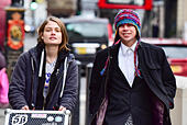 London, United Kingdom. 29 November 2017. Lauri Love and partner Sylvia Mann arrive at the Royal Courts of Justice in central London for the start of an appeal hearing against his extradition to the US where he faces hackng charges. Credit: Peter Manning/Alamy Live News - Stock Image - KJPR2J