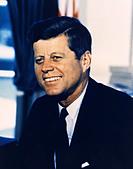 President John F. Kennedy, American President JFK - Stock Image - DHWXX2