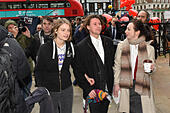 London, United Kingdom. 29 November 2017. Lauri Love and partner Sylvia Mann arrive at the Royal Courts of Justice in central London for the start of an appeal hearing against his extradition to the US where he faces hackng charges. Credit: Peter Manning/Alamy Live News - Stock Image - KJPR31